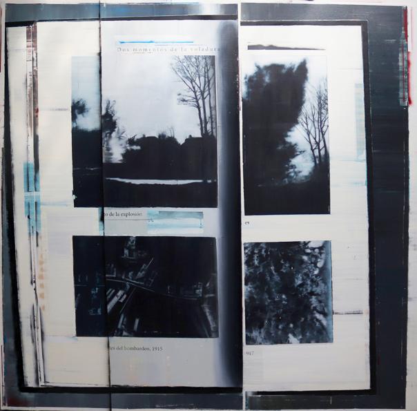 Del proyecto The act of seeing with no eyes (2020) Óleo, esmalte y spray sobre lino 190x190 cm